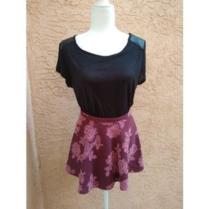 Abercrombie   stitched floral skirt NWT